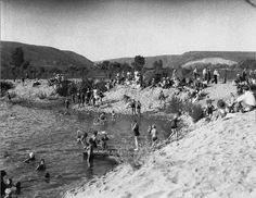 Wow what a trip...People swimming in the San Diego River in Mission Valley  San Diego, CA. 1931