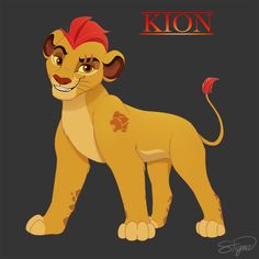"""This is Kion (Simba's son) from Disney Junior's show """"The Lion Guard"""". Kion (The Lion Guard) Kiara Lion King, Lion King 3, The Lion King 1994, Lion King Fan Art, Lion Art, Disney Lion King, Lion King Series, The Lion King Characters, Lion King Drawings"""