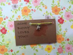 A personal favorite from my Etsy shop https://www.etsy.com/listing/400125411/some-bunny-loves-you-bracelet
