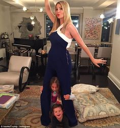 Balancing it all: Ivanka, who said she has a special bond with Arabella and Joseph, struck...
