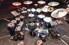Gavin Harrison's palace | TonyLevin.com Double Bass Drum Set, Drums Artwork, Acoustic Drum, Best Drums, Beatles Guitar, Pearl Drums, Drum Music, Sound Studio, Snare Drum