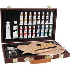 Studio 71 Oil Painting Art Set I Wood Case: 27 pieces Oil Painting Supplies, Paint Supplies, Painting Art, Oil Paintings, Artist Supplies, Pencil Painting, Indian Paintings, Painting Lessons, Abstract Paintings