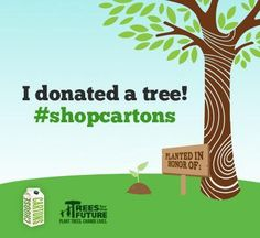 Do you choose cartons at the grocery store? For every share of #shopcartons, @ChooseCartons  & Trees for the Future will donate a tree! Learn more here: http://www.easygreenmom.com/shopcartons-save-trees-month/