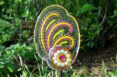 Outdoor Décor Hand crafted Recycled art Yard Art by GlassBlooms