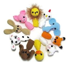Buy Me on URCRafti.com! Animal Finger Puppets for Toddlers & Kids Finger Puppets - Finger Puppets - Toys for Toddlers - Kids Toys - Crochet Animal Puppets by Erin Balm At least Pin Me so everyone can see!