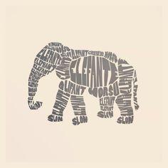 caligrama elefante