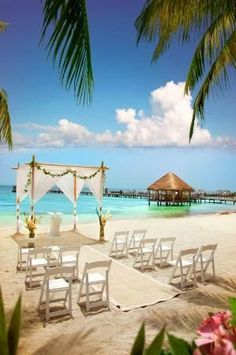 Isla Mujeres Palace #wedding #destination That's the first wedding I would want to be invited to.