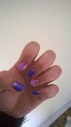 Purple pink nails cnd