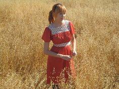 70s strawberry shortcake-ish dress