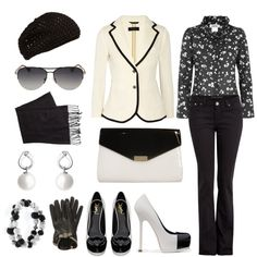 """White Jacket"" by angela-windsor on Polyvore"