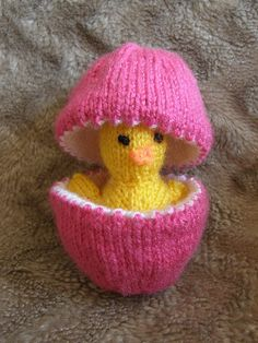 Knit easter egg with chick.  Adorable!
