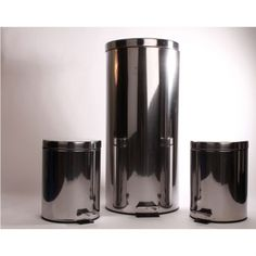 Set of 3 Stainless Steel Trashcans                       $59.99 http://designinstyle.athome.com/summer-sale-kitchen/stainless-steel-trashcan-set-of-3.html