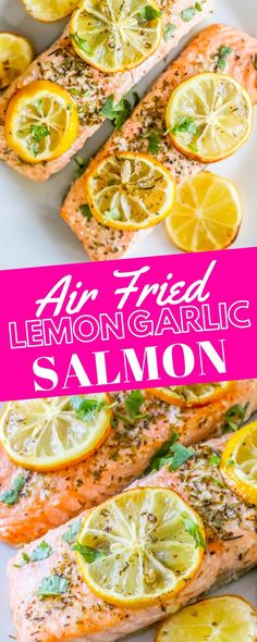 Easy Air Fryer Lemon Garlic Salmon Recipe – delicious crispy and flavorful air fried salmon packed with tons of lemon and garlic flavor . Salmon In Air Fryer, Air Fryer Recipes Salmon, Air Fryer Recipes Appetizers, Air Fryer Recipes Vegetarian, Air Fryer Recipes Snacks, Air Frier Recipes, Air Fryer Recipes Breakfast, Air Fryer Dinner Recipes, Cooking Recipes