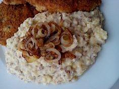Smetanová bramborová kaše s pohankou Grains, Rice, Food, Meals, Yemek, Laughter, Jim Rice, Eten