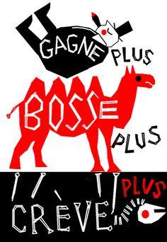 AFFICHE Bosse plus - Mai 68 - Mai 08