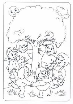 Earth Day Coloring Pages, Coloring For Kids, Coloring Pages For Kids, Coloring Sheets, Coloring Books, Art Drawings For Kids, Drawing For Kids, Art For Kids, Tree Day
