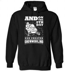 God created Snowmobiling - 1015 - #make t shirts #plain hoodies. CHECK PRICE => https://www.sunfrog.com/LifeStyle/God-created-Snowmobiling--1015-6543-Black-Hoodie.html?60505