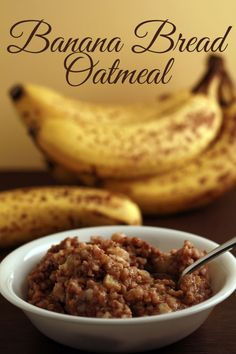 Banana Bread Oatmeal in the Slow Cooker  I can't eat bananas much but I think the rest of the family would like it!