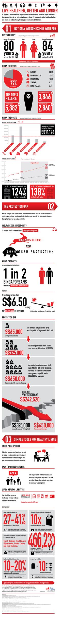 The Singapore Protection Gap, information design, infographics, healthcare