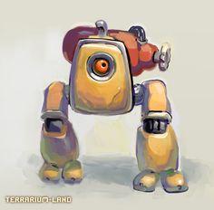 """Demolition minibot. Enemy from 3d arcade indie game """"Terrarium-land"""". #Terrarium_land, #indiedev, #indiegame,#gamedev,#art"""