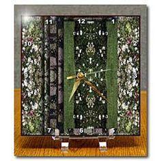 Stacked Garden of Flowers Desk Clock
