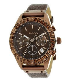 Take a look at this DKNY Brown Classic Chronograph Watch - Women on zulily today!