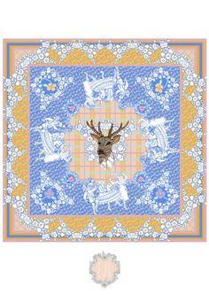 May Day Wickrman scarf design Eleanor Longhurst.