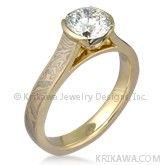 Unique Mokume Gane Engagement Ring