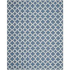 Safavieh Handmade Moroccan Cambridge Navy Wool Rug (6' x 9')   Overstock.com Shopping - The Best Deals on 5x8 - 6x9 Rugs