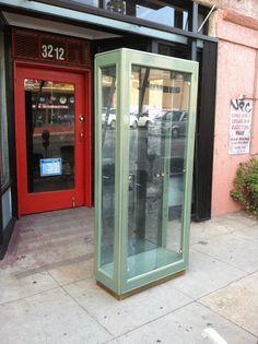 Master of Design Los Angeles Sunset, Vintage Storage, China Cabinet, Vintage Furniture, Locker Storage, Bookcase, Metal, Green, Design