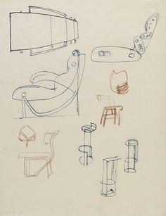 Eileen Gray - 'Tempe à Pailla' - Sketches