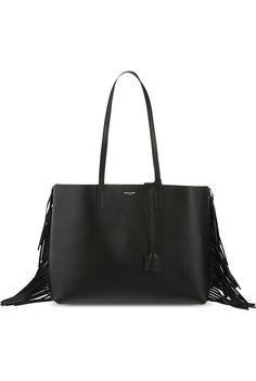 SAINT LAURENT - Large fringed leather tote | Selfridges.com