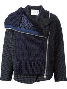 Shop Sacai short knitted coat in Biffi from the world's best independent boutiques at farfetch.com. Over 1000 designers from 300 boutiques in one website.