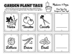 FREE Printable: Garden Plant Tags