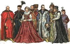 Polish magnates 1576-1586  I love the red dress.