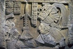 Mayan releif, (ok, that looks like a Rocket ship in the center, ancient aliens?), Yaxchilan Chiapas, Mexico