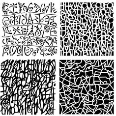 Abstracted lettering