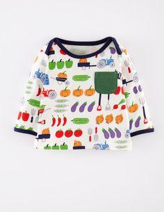 Shirt mit fröhlichem Motiv 71358 Oberteile bei Boden