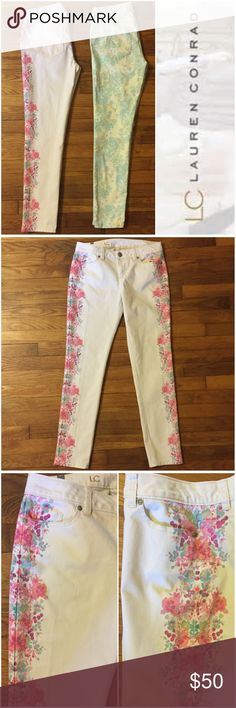 Lauren Conrad Floral Skinny Jean Bundle ---size 6 Lauren Conrad Floral Skinny Jean Bundle ---size 6 --- 98/2 cotton/spandex --- excellent preloved condition --- no signs of wear or imperfections --- measurements to come --- this listing is for both pairs of jeans --- thank you for visiting my boutique, please feel free to ask any questions Lauren Conrad Jeans Skinny