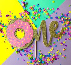 Donut Cake Topper Donut Birthday Party Donut Party Donut