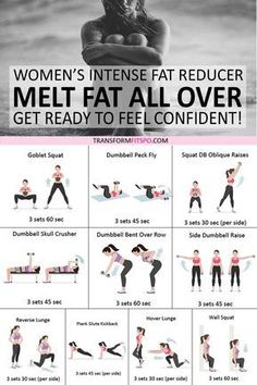 Get rid of that stubborn fat with this intense fat reducer exercise routine. Get ready to feel confident and turn heads. Do this workout daily for best results. And don't forget to repi Fitness Workouts, Fitness Diet, Fitness Goals, Body Weight Workouts, Full Body Workouts, Weight Training Exercises, Hiit Interval Training, Weight Machine Workout, Obesity Workout
