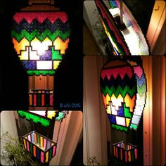 Hot air balloon lamp hama/nabbi beads by ufolke