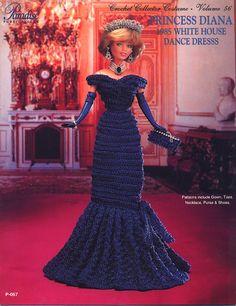 Barbie Princess Diana-White House ball gown.