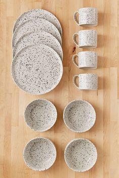 Slide View: 1: 12-Piece Speckled Dinnerware Set