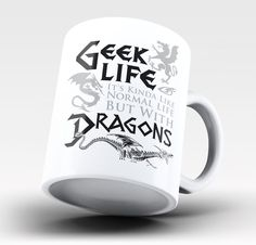 Geek Life With Dragons - Mug