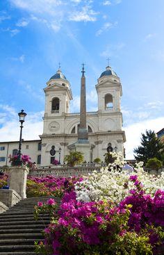 Chiesa Trinità dei Monti  - Spanish Steps, Rome, Italy
