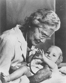 "Helen Taussig, MD, long with surgeon Alfred Blalock and surgical technician Vivien Thomas, innovated a surgical procedure to fix ""blue baby syndrome"" that would circulate oxygen back to the wee patient's lungs, and become forever known as the Blalock-Taussig shunt."