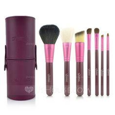 Makeup Supply - $16.99 - 7 Pcs Makeup Brush Set With Brush Cylinder Tube (046049517) http://jjshouse.com/7-Pcs-Makeup-Brush-Set-With-Brush-Cylinder-Tube-046049517-g49517