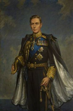 Frank Ernest Beresford — His Majesty King George VI, 1937 : Angus Council, Scotland. George Vi, Elizabeth Ii, Royal Christmas, Marcel Proust, Her Majesty The Queen, San Martin, Herzog, Historical Art, World War One