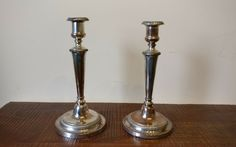 Matthew Boulton Old Sheffield Plate candlesticks pair circa 1800 in Antiques, Silver, Silver Plate | eBay!